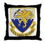 USS LANG Throw Pillow