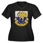 USS LANG Women's Plus Size V-Neck Dark T-Shirt