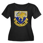 USS LANG Women's Plus Size Scoop Neck Dark T-Shirt