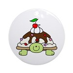 turtle sundae (front) round ornament