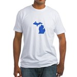 Michigan Peninsulas blue Fitted T-Shirt