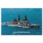 USS LEFTWICH Large Poster