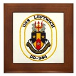 USS LEFTWICH Framed Tile