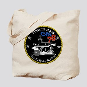 USS Gerald R. Ford CVN 78 Tote Bag