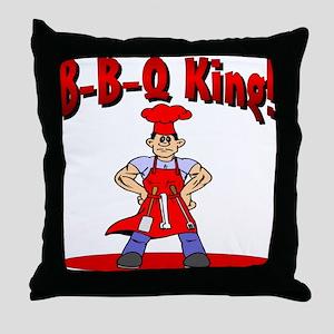 B-B-Q King Throw Pillow