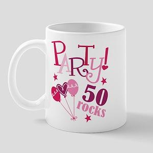 Party 50 Rocks Birthday Mug