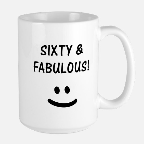 Funny 60th Birthday Large Mug