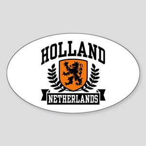 Holland Netherlands Oval Sticker