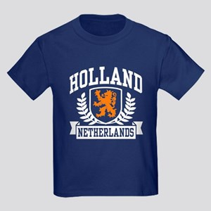 Holland Netherlands Kids Dark T-Shirt