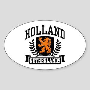 Holland Netherlands Oval Sticker