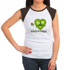 My Heart Belongs to a Logger Women's Cap Sleeve T-