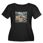 ABH Cali Women's Plus Size Scoop Neck Dark T-Shirt