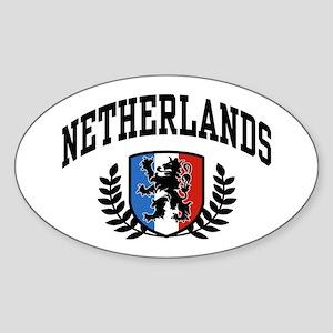 Netherlands Oval Sticker