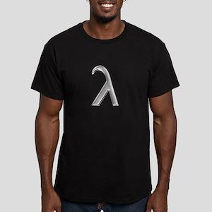 Lambda Men's Fitted T-Shirt (dark)