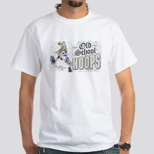 Old School Dino Hoops White T-shirt 2