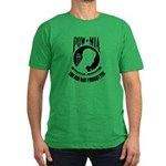POW MIA Men's Fitted T-Shirt (dark)