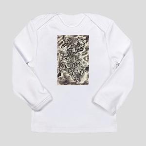 Vintage japanese samurai demon Long Sleeve T-Shirt