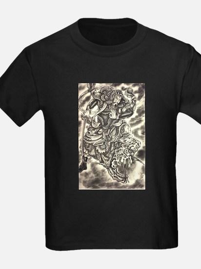 Vintage japanese samurai demon fight tatto T-Shirt