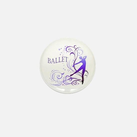 Ballet - scroll Mini Button