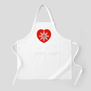 Snowflake Heart BBQ Apron