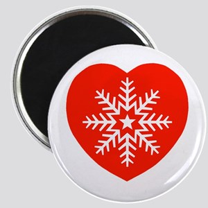 Snowflake Heart Magnet