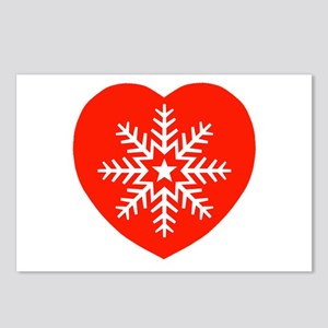 Snowflake Heart Postcards (Package of 8)