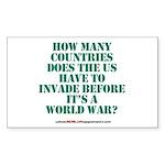 IS IT A WORLD WAR YET? Rectangle Sticker