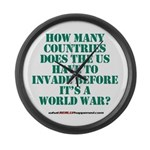 IS IT A WORLD WAR YET? Large Wall Clock