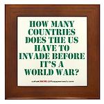 IS IT A WORLD WAR YET? Framed Tile