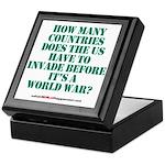 IS IT A WORLD WAR YET? Keepsake Box