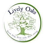 Lively Oaks Color Round Car Magnet