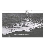 USS LESTER Postcards (Package of 8)