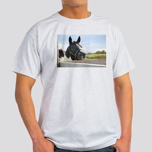 Horse Chewing on the Fence Light T-Shirt