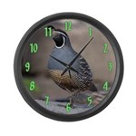 California Quail Large Wall Clock
