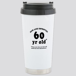 60th Birthday Gag Gifts Stainless Steel Travel Mug
