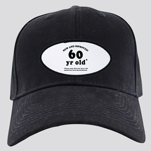 60th Birthday Gag Gifts Black Cap