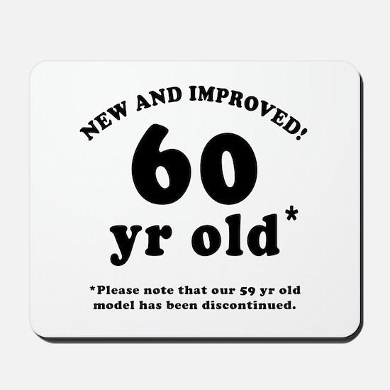 60th Birthday Gag Gifts Mousepad