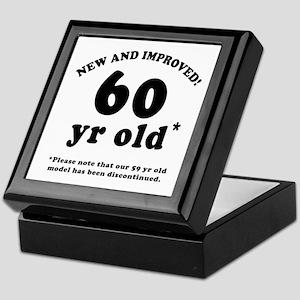 60th Birthday Gag Gifts Keepsake Box