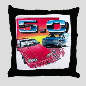 Mustang 5.0 Throw Pillow