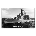 USS LUCE Sticker (Rectangle 50 pk)