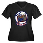 USS LUCE Women's Plus Size V-Neck Dark T-Shirt