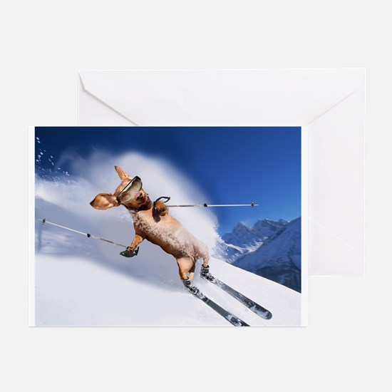 Skiing Greeting Cards (Pk of 20)