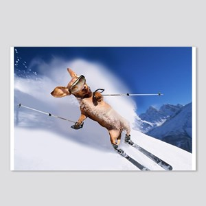 Skiing Postcards (Package of 8)