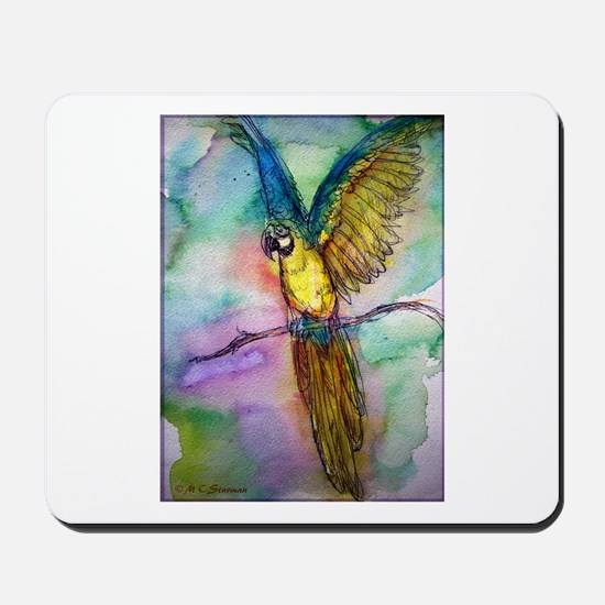 Blue Macaw, bright, parrot, Mousepad