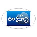 Hangin Oval Sticker (50 pk)