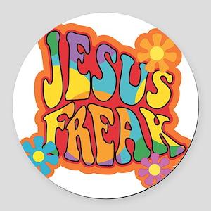 Jesus Freak Round Car Magnet