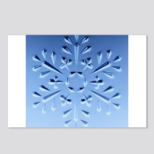 Blue snowflake Postcards (Package of 8)