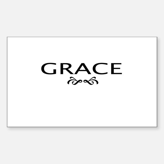 Grace Rectangle Decal