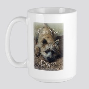 Cairn Terrier Dig It! Large Mug