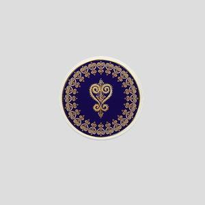 Armenian Heart Mandala Mini Button